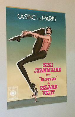 Vintage Goude Poster French showgirl ZiZi Jeanmarie at the Casino de Paris Ad