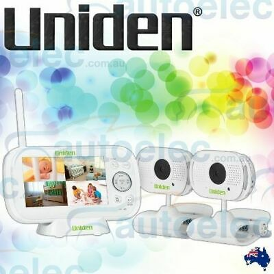 "Uniden Bw3102 Twin 2 Camera Digital Wireless 4.3"" Baby Monitor + Temp Display"