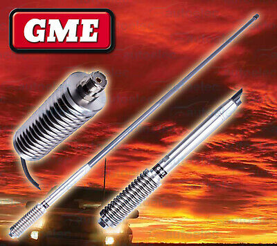 Gme Ae4703G Grey Heavy Duty Hi Gain Uhf Cb Radio Antenna Bull Bar Fiberglass New