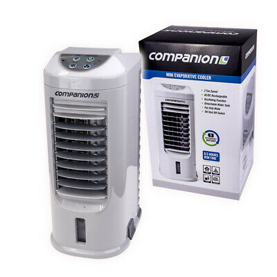 Evaporative Portable Fan Cooler Rechargeable & 12V Caravan Camping Camp Air New