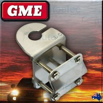 Gme Mirror Mount Bracket Antenna Aerial Uhf Cb Stainless Roof Rack Mb411Ss