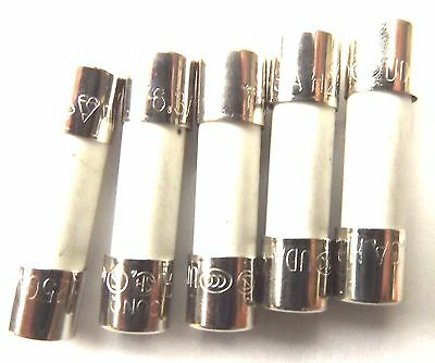 Fuse 5a  20mm HBC Antisurge/ Time delay T5A  H  250v Ceramic x5pcs