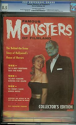 Famous Monsters Of Filmland #1 Cgc 8.5 Ow/wh Pages / 1St Warren Monster Magazine