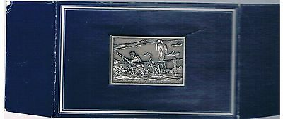 ALLIES LAND AT NORMANDY  BICENTENNIAL HISTORY  SOLID PEWTER INGOT FRANKLIN MINT