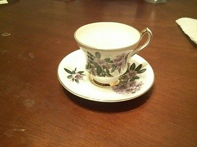 Vintage Society Fine Bone China Teacup and Saucer Set Made in England