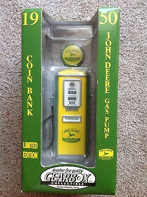 John Deere gas pump coin bank 1950 limited edition