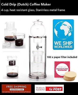 Cold Drip Coffee Maker 5-8 Cups Heat Resistant Glass Sydney stock BD-6