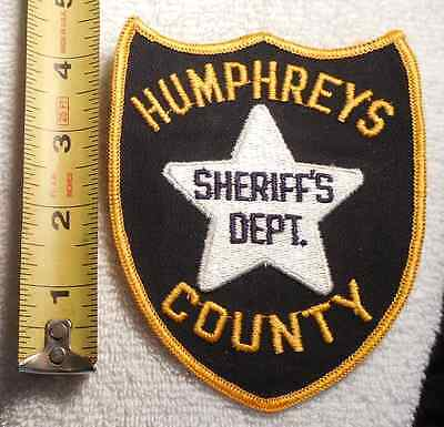HUMPHREYS COUNTY MISSISSIPPI SHERIFF PATCH (HIGHWAY PATROL, SHERIFF, EMS, STATE)