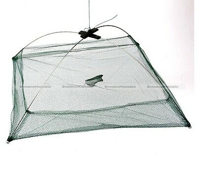 80cm x 80cm Foldable Fishing Crab Crayfish Lobster Bait Trap Net Prawn Shrimp