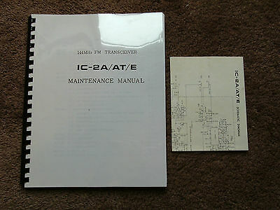 Icom IC T2A T2E Service Repair Shop Manual 144 MHz FM Transceiver IC-ML1 BC-30