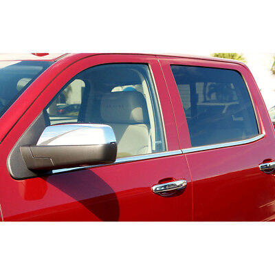 Stainless Window Sill Molding fit for 15-18 Silverado/Sierra 2500/3500 Crew Cab