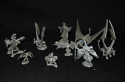 9 Rawcliffe Partha Pewter Dragons Wizards Fantasy Figurines 1980s/90s Numbered