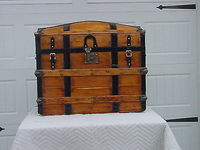 Antique Trunk w/New Tray Circa 1860's/1870's Professionally  Restored Very Nice!