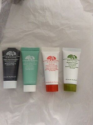 Origins Set of 4 Minis(0.5oz each Mask, Hand Cream, Dermabrasion, Eye Cream) New