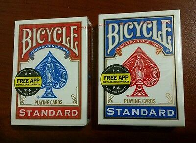 2 Deck of Bicycle Playing Cards * Standard Face * Red & Blue * New & Sealed *