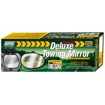 MAYPOLE Towing Extension Mirror - Deluxe Convex Glass - 8327