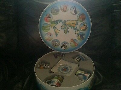 Noah's Ark Tea Set By Cardew Designed In England 5 Cups & 5 Saucers with Animals