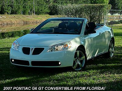 Pontiac : G6 2dr Converti 2007 pontiac g 6 gt hardtop convertible from florida 43 000 miles and like new