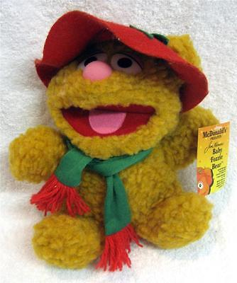 """Vintage 1987 Baby Fozzie Bear With Tags Muppets McDonalds 9""""  Stuffed Plush #HH3"""