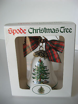 Spode CHRISTMAS TREE Millennium Year 2000 Bell Ornament New In Box