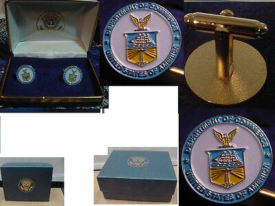 Pair of  new department of commerce CUFFLINKS