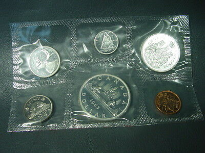 Canada 1963 Prooflike Set 6 coins 1.1022 Actual Silver Weight OGP and COA