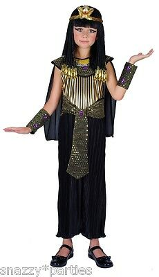 Child QUEEN CLEOPATRA Ancient Fancy Dress Costume Girls Outfit Book Week Age3-13