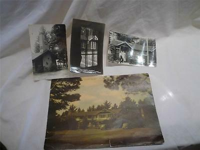 Little Bohemia Lodge Manitowish Waters WI  Dillinger Site Lot of 4 Postcards
