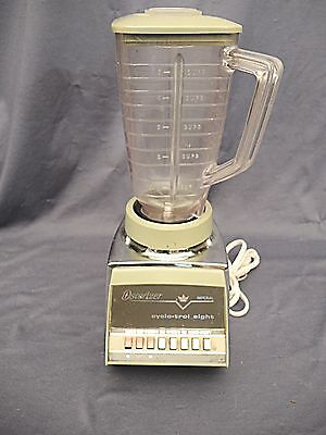 """VINTAGE 60'S-70'S  OSTERIZER """"IMPERIAL""""  CYCLO-TROL 8  BLENDER WORKING -USA"""