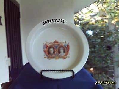 King George VI and Queen Elizabeth Coronation Baby's Plate