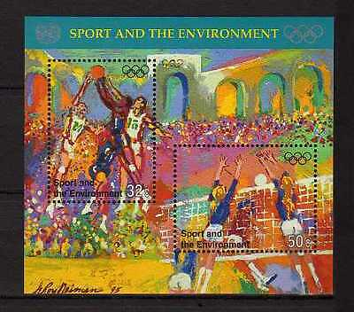 10115) UNITED NATIONS (New York) 1996 Sport Olympic Basketball... S/S MNH**