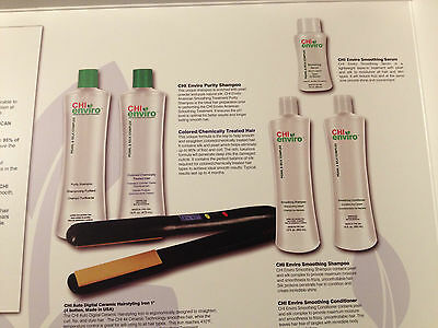 Chi Enviro Essential Smoothing Treatment Kit For Colored/chemically Treated Hair