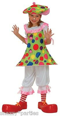 Child CLOWN CLOWNING AROUND Circus Girl Fancy Dress Outfit Costume Cute Age 3-13