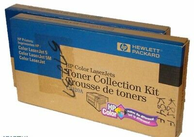 Lot of 2 Genuine HP Toner Collection Kit for HP Color Laser jet 5 5M P/N C3120A