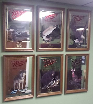 "Miller High Life Mirrors - COMPLETE (6 pcs) ""Wildlife Series"""