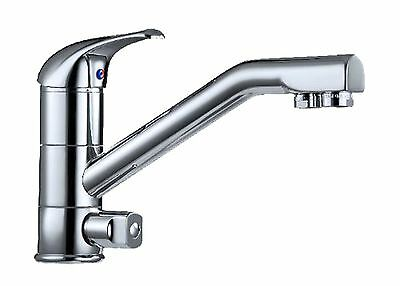 3 Way kitchen tap with 3 inputs, for Hot Cold and Filtered Water -New with hoses