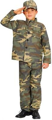 Boys ACTION COMMANDO Military Army Force Fancy Dress Book Week Costume Age 3-10