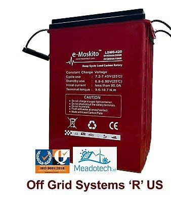 12V 220 - 8Ah AGM DEEP CYCLE BATTERY  SOLAR & LEISURE SYSTEMS FREE UK Delivery