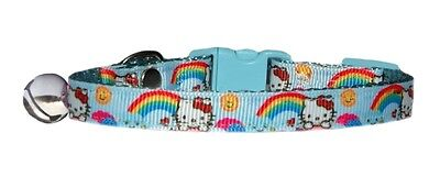 red yellow pink green blue rainbow Hello Kitty  safety kitten cat  collar