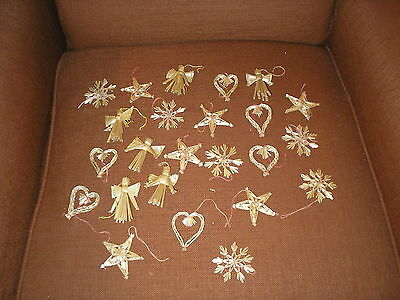 24 VINTAGE Scandinavian  HAND MADE STRAW ORNAMENTS