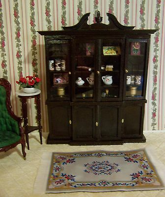 House of Miniatures DOLLHOUSE *RARE* CHIPPENDALE BREAKFRONT built from Kit NICE!