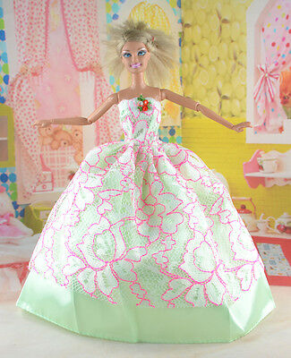 hot New Handmade Party Clothes Fashion Dress for Noble Doll *y82