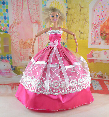 hot New Handmade Party Clothes Fashion Dress for Noble Doll *y73