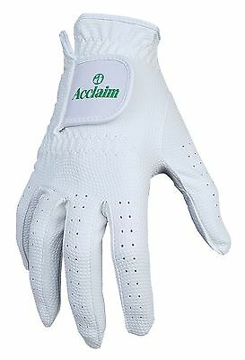 ACCLAIM Bowls Glove Premier All Weather & Conditions Mens Gents White Synthetic