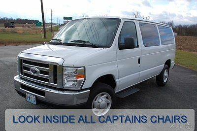 Ford : E-Series Van XLT 2009 xlt used 5 l v 8 all captains chairs passenger clean shuttle conversion