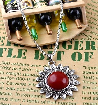 New Classical Natural hot resin cute tibet silver Necklace+Pendant H-1692