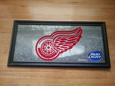 2014 BUD LIGHT DETROIT RED WINGS MIRROR