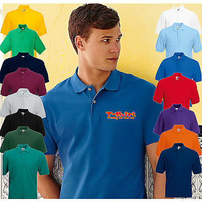10 Pack of Personalised FOTL 63402 Embroidered Polo Work Wear Shirts, No Fee !
