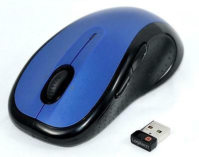 Logitech M510 BLUE Wireless Laser Mouse for PC/MAC with Unifying Receiver