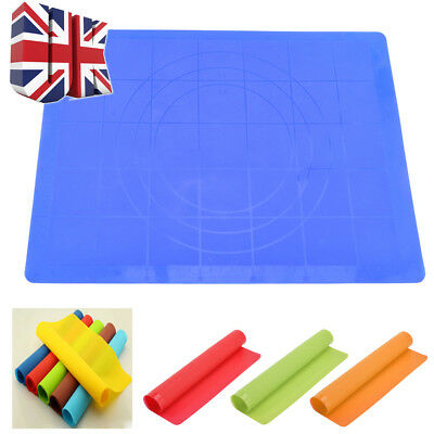 Useful Silicone Bakeware Baking Tray Dough Rolling Multifunction Mat UK